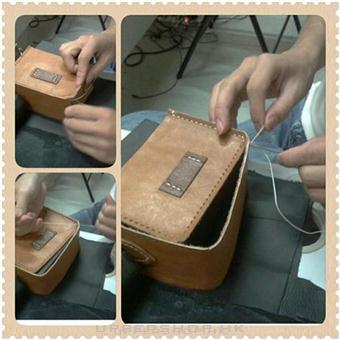 送給男友的聖誕禮物 handsbox DIY銀包 leather workshop