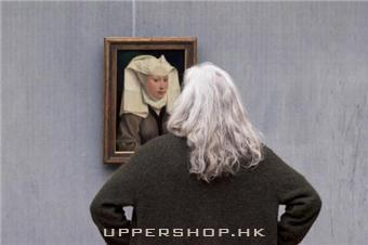 一個與藝術品撞衫的人 耐心等待Stefan Draschan