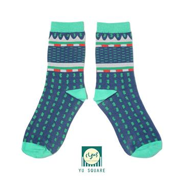 台灣 花紋 圖案 針織 棉襪 Fault Socks