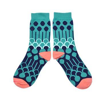台灣 花紋 圖案 針織 棉襪 Windows Socks