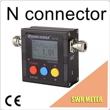 SURECOM SW-102-VU SO239 connector V.S.W.R.功率計和頻率計數器