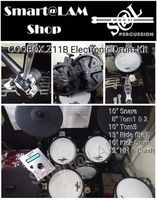 COOBOX Z11B 全網面電子鼓組(可擴充/三音區13寸RIDE支援Bell)
