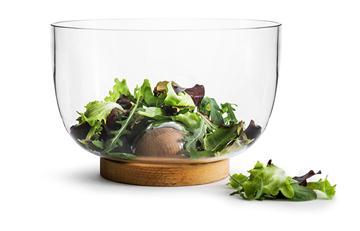 橡木玻璃沙拉碗