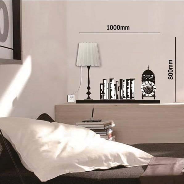 創意DIY立體掛牆燈配牆貼裝飾