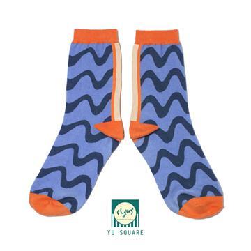 台灣 花紋 圖案 針織 棉襪 Wave Socks