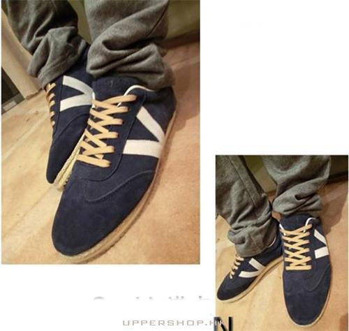 藍色磨砂板鞋