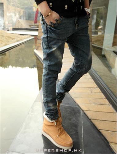 修身型小腳牛仔褲