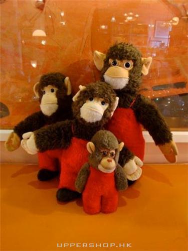 復古猴毛绒玩具