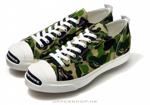 軍綠色休閒鞋