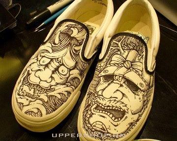 保罗的Geronimo設計的藝術鞋
