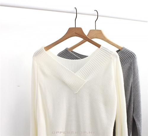 一款柔軟保暖的v領毛衣