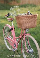 粉色自行車