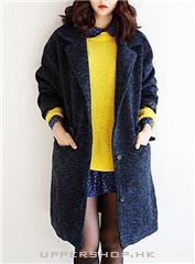 韓系顯瘦毛呢大衣