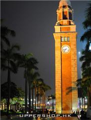 夜色中的星光大道鐘塔