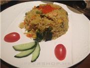 三文魚蟹子炒飯