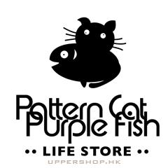 Pattern Cat Purple Fish life store