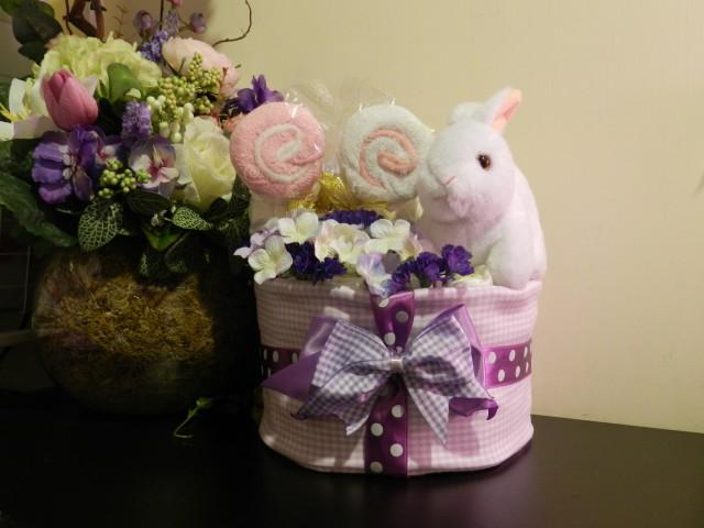小兔尿片蛋糕