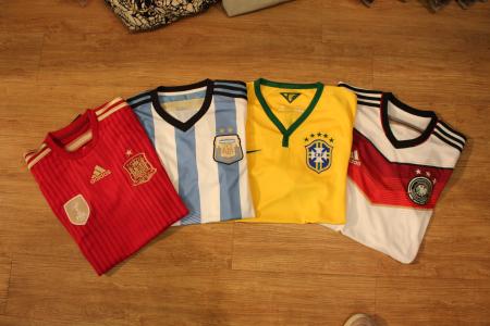 西班牙、阿根廷、巴西波衫