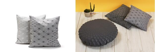 Mika Barr Geo Origami 抱枕 另有可選灰色、黃色、黑白色多種顏色選擇